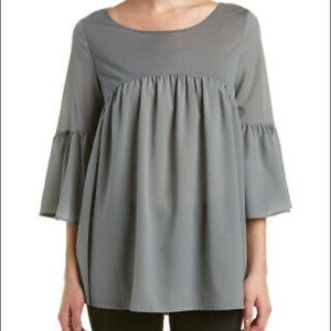 French Connection Oversized Tiered Boho Top
